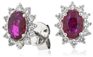 Image for Ruby & Diamond Earrings
