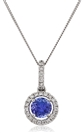 Image for Round Tanzanite & Diamond Pendant