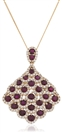 Round Ruby & Diamond Pendant