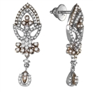 Image for Elegant Round Diamond Designer Drop Earrings