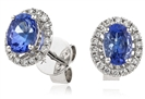 Image for Tanzanite & Diamond Cluster Earrings