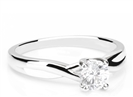 Image for Round Diamond Infinity Twist Engagement Ring