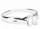 Modern Infinity Princess Diamond Engagement Ring