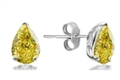 Image for Fancy Yellow Pear Diamond Stud Earrings