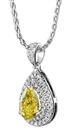Image for Fancy Yellow Pear Diamond Halo Pendant
