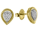 Image for Elegant Round Diamond Cluster Earrings