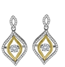 Image for Modern Floating Diamond Drop Earrings