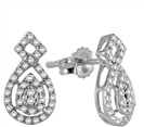 Image for Unique Round Diamond Cluster Earrings