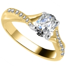 Image for Infinity Twist Oval Diamond Engagement Ring