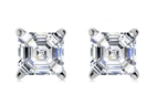 Lucida Asscher Cut Diamond Earrings