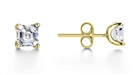 Image for Four Corner Prong Asscher Diamond Stud Earrings