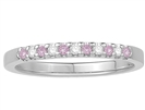 2mm Pink Sapphire and Diamond Eternity Ring