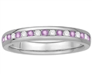 3mm Pink Sapphire and Diamond Eternity Ring