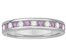Image for 3.5mm Pink Sapphire and Diamond Eternity Ring