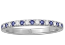 2mm Blue Sapphire and Diamond Eternity Ring