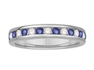 3.5mm Blue Sapphire and Diamond Eternity Ring