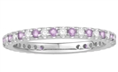 0.50ct VS/EF Pink Sapphire and Diamond Eternity Ring