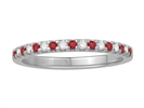 Image for 3mm Red Ruby and Diamond Eternity Ring