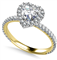 Heart Shaped Diamond Single Halo Shoulder Set Ring DHAN519 Yellow Thumbnail 2