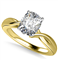 Modern Intertwined Cushion Diamond Engagement Ring DHAN516CU Yellow Thumbnail 2