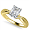Modern Intertwined Radiant Diamond Engagement Ring DHAN516RAD Yellow Thumbnail 3