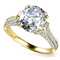 Modern Round Diamond Vintage Ring DHAN564 Yellow Thumbnail 3