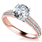 Classic Round Diamond Vintage Ring DHAN558 Rose Thumbnail 3
