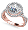 Double Halo Infinity Round Diamond Ring DHAN528 Rose Thumbnail 2