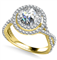 Double Halo Infinity Round Diamond Ring DHAN528 Yellow Thumbnail 3