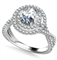 Double Halo Infinity Round Diamond Ring DHAN528 White Thumbnail 1