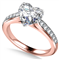 Heart Diamond Shoulder Set Ring DHAN533 Rose Thumbnail 3