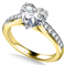 Heart Diamond Shoulder Set Ring DHAN533 Yellow Thumbnail 2