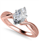 Modern Intertwined Marquise Diamond Engagement Ring DHAN516MRQ Rose Thumbnail 3