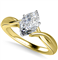 Modern Intertwined Marquise Diamond Engagement Ring DHAN516MRQ Yellow Thumbnail 2