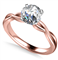 Infinity Love Swirl Round Diamond Engagement Ring DHAN514RD Rose Thumbnail 3