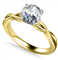 Infinity Love Swirl Round Diamond Engagement Ring DHAN514RD Yellow Thumbnail 2